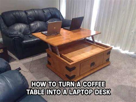 How To Make A Coffee Table Into An Ottoman How To Turn A Coffee Table Into A Laptop Desk Iseeidoimake