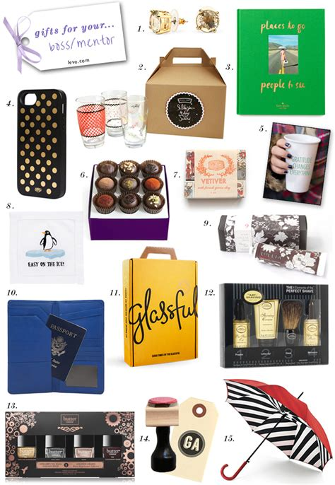 gifts for bosses for 15 gifts for your levo