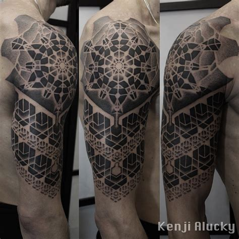 geometric tattoo artist kenji alucky sacred geometry jaw dropping tats