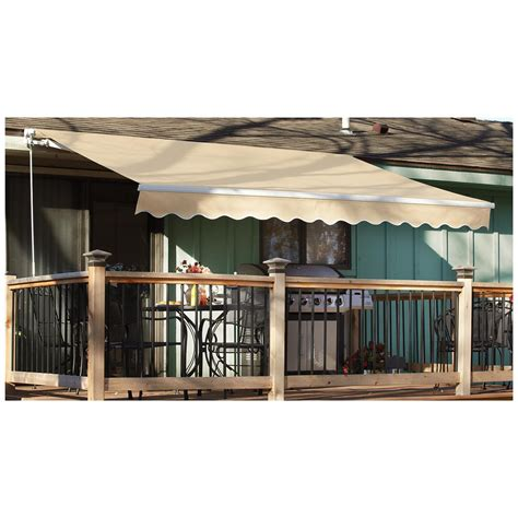 10 X 10 Retractable Awning by Castlecreek 12 X 10 Retractable Awning Steel Side Arm