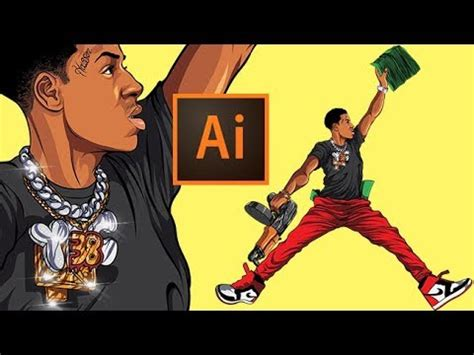 Drawing Symbols Nba Youngboy by Drawing Nba Youngboy From Scratch Adobe Illustrator