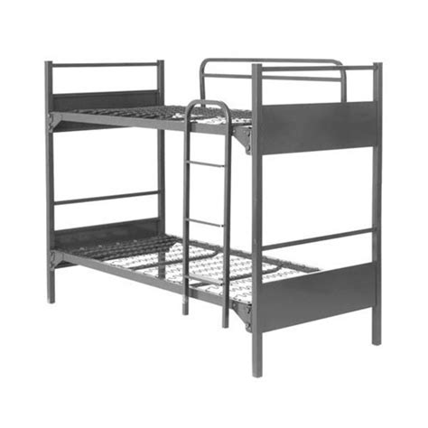 Metal Bunk Beds With Mattresses Deluxe 900 Demountable Metal Bunk Bed For 39x75 Mattress