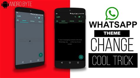 whatsapp themes root no root how to change whatsapp theme and look completely