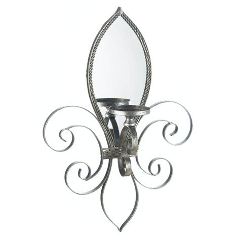 fleur de lis mirrored wall sconce wholesale at koehler