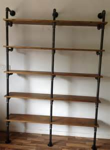 Build A Wood Shelf Unit by Vintage Industrial Gas Pipe Pole Retro Shelves By Breuhaus On Etsy