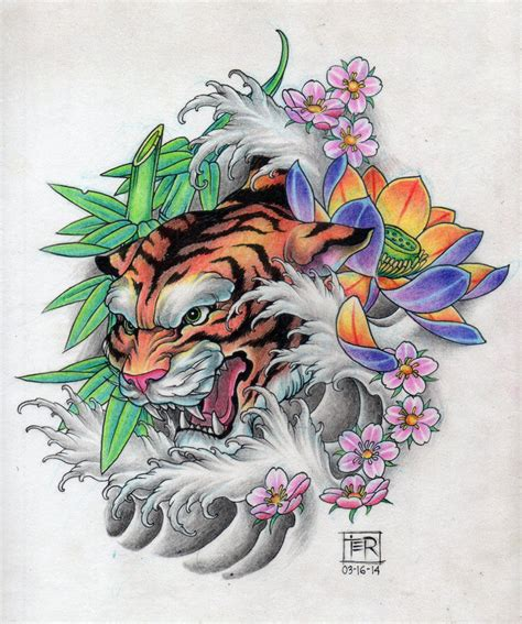 tattoo oriental tigre tiger tattoo design tattoo design i did pinterest