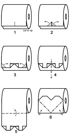 How To Make Toilet Paper Origami - toilet paper origami