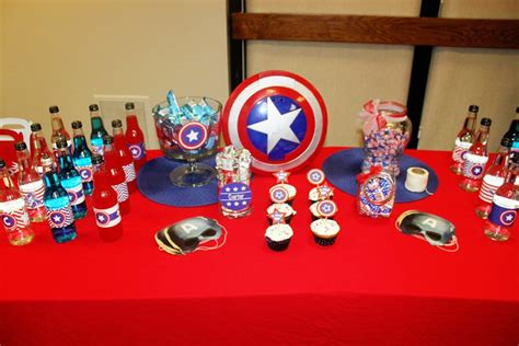american themed decorations captain america themed birthday events to celebrate