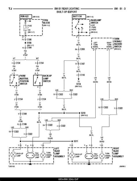 brake light wiring diagram jeepforumcom