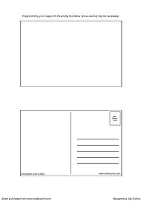card template with front and back post card template cup185047 695 craftsuprint