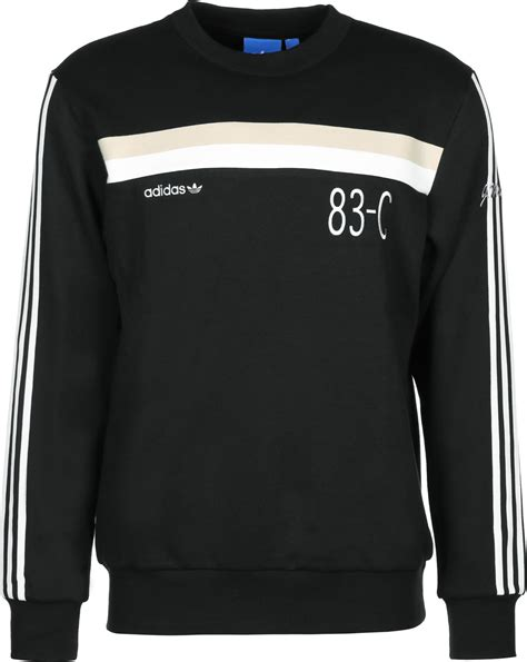 Sweater Black Addidas Basic adidas 83 c crew sweater black