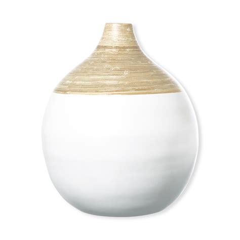 deco vase grand vase en bambou blanc objet d 233 co design et chic