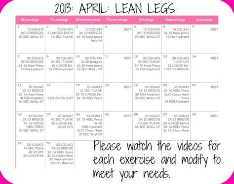 fitness sisters lean legs april