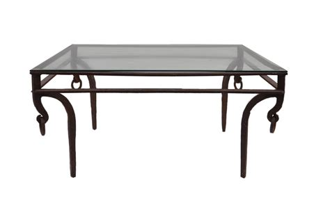 Glass And Iron Coffee Tables Iron And Glass Coffee Table Mecox Gardens