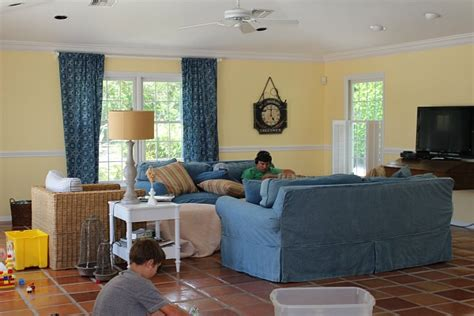 modern cottage makeover family room the house of