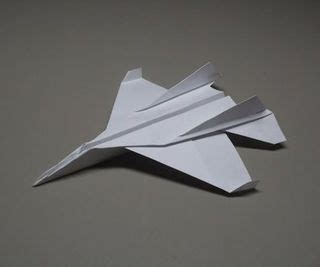 Origami F 16 - how to fold an origami f 15 paper airplane learn how to