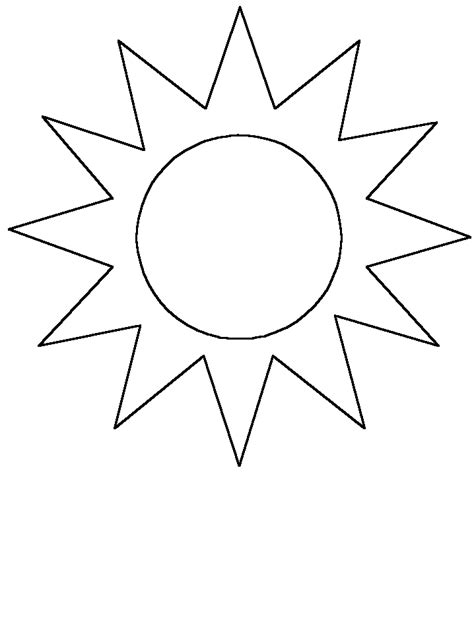 printable coloring pages sun simple shapes sun coloring pages coloring book