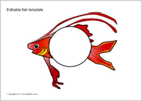 Editable Fish Template Editable Fish Templates Sb5803 Sparklebox