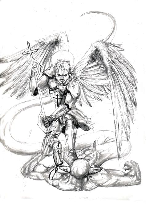 michael angel tattoo designs st michael the archangel drawing