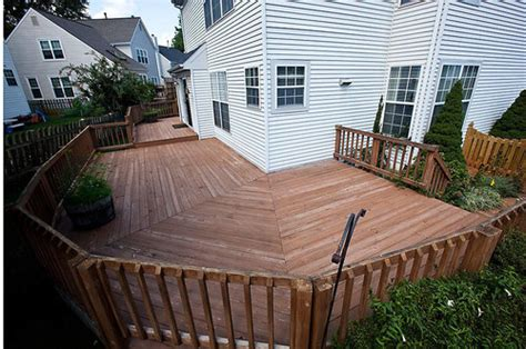 wrap around deck ideas before and after wrap around deck makeover featuring trex