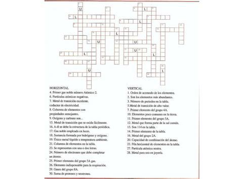 preguntas faciles historia crucigrama de la tabla periodica
