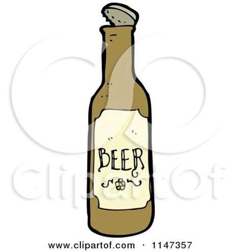 beer bottle cartoon cartoon of a beer can royalty free vector clipart by