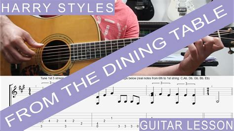 from the dining table chords harry styles from the dining table complete guitar
