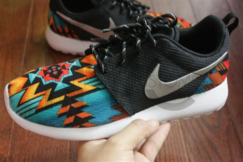 tribal pattern nike free runs nike roshe run black anthracite aztec tribal print v5