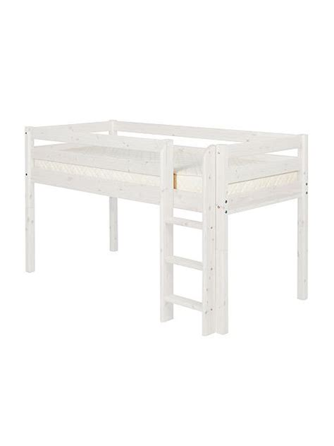 Flexa Mattress Size by Flexa Single Mid Height Bed With Ladder House Of Fraser