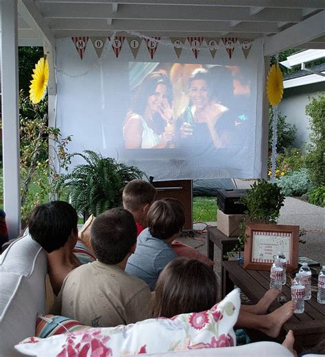 backyard movie party outdoor movie night it s time for a party pinterest