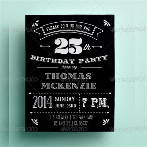 Black And White Birthday Invitation Card Template by Invitation Card Template 27 Free Sle Exle Format