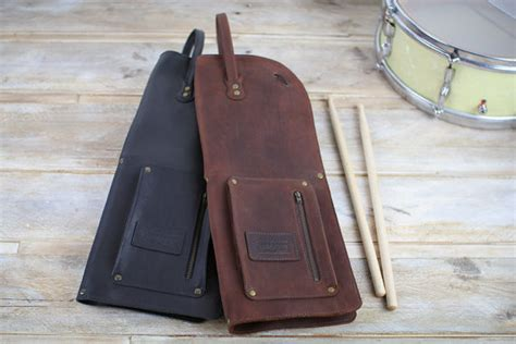 pattern for drum stick bag leather drumstick bag with zip vintage style leather stick