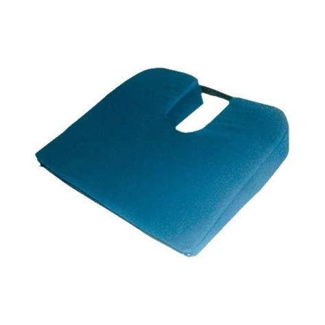 mabis dmi healthcare ortho bed wedge pillow 10 quot x 20 quot x 30 1 2 quot extra large blue cover mabis dmi sloping coccyx cushion seat cushion