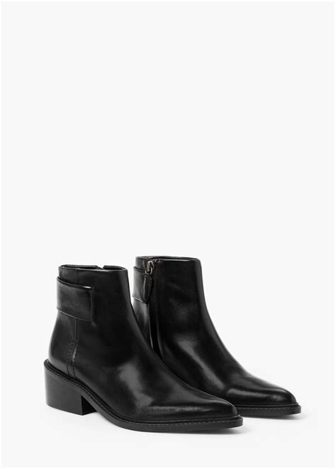 Zipped Ankle Boots zipped leather ankle boots bottines en cuir