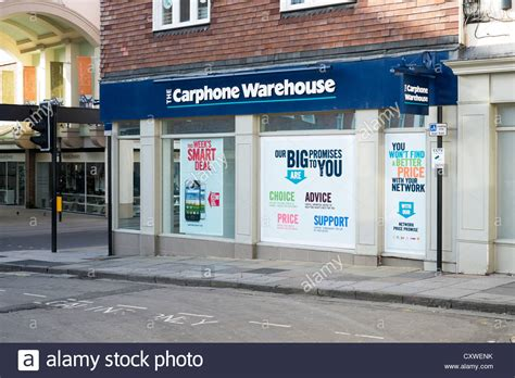 windows mobile store carphone warehouse mobile phone shop with posters in the