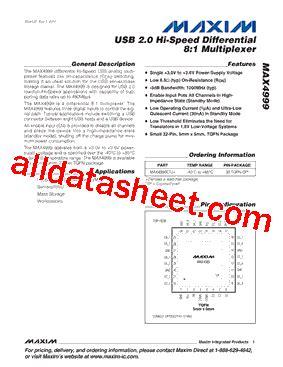 maxim integrated products dublin address max4999 datasheet pdf maxim integrated products
