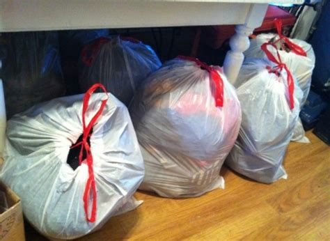 brie dyas closet organization how many bags of clothes can you get