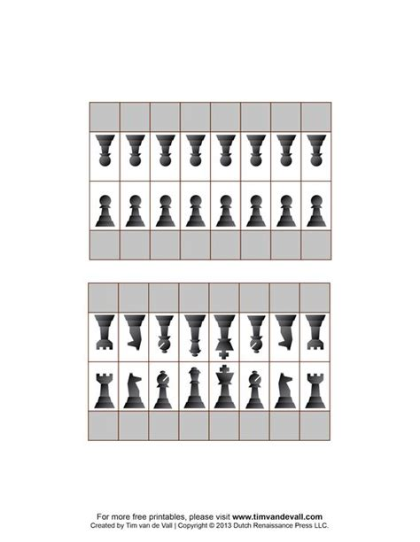 free printable chess pieces to use for flashcards name