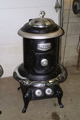 comfort pot belly stove antique cast iron bonny oak parlor stove wood pot belly