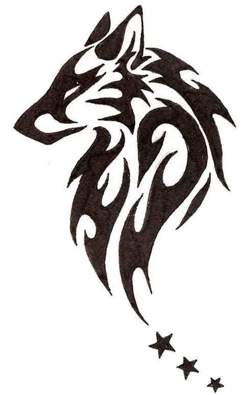 tribal wolf face tattoo 50 amazing wolf designs golfian