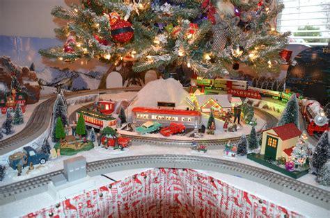 christmas tree train layout for 2016 o gauge