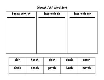 Tch Worksheets Printables