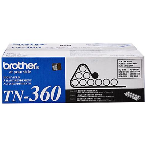 brother tn820 black toner cartridge by office depot brother tn 360 black toner cartridge by office depot