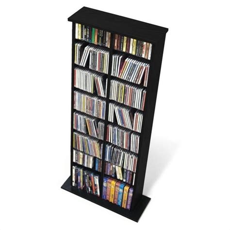 dvd storage prepac cd dvd media storage rack black ebay