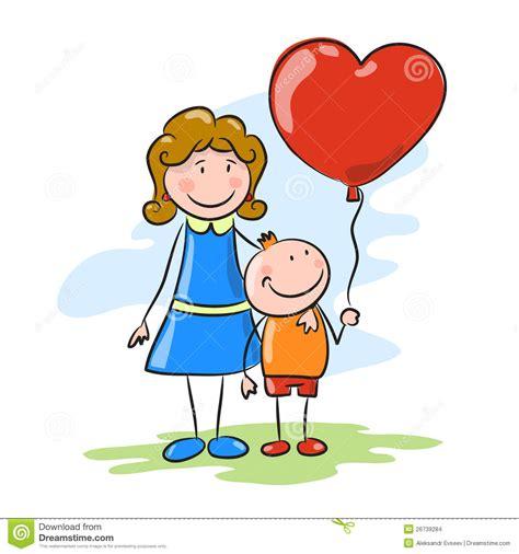 imagenes de mama con sus hijos en caricatura madre e hijo ilustraci 243 n del vector imagen de cara
