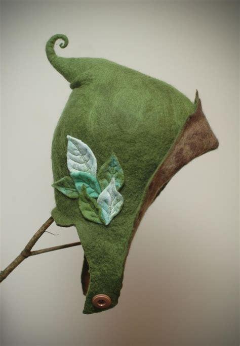 pattern for felt elf hat pixie cap faerie folk mythical beings pinterest