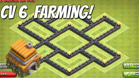 layout cv 7 farming youtube clash of clans layout cv 6 farm base youtube