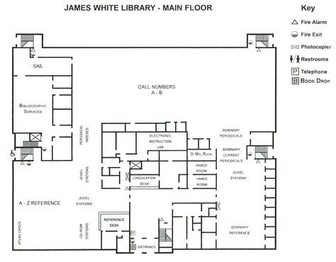 floor plan main is 6900sq floor plan of the main floor at james white library