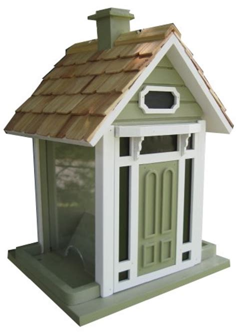 home bazaar bellport cottage birdfeeder green birdhouse