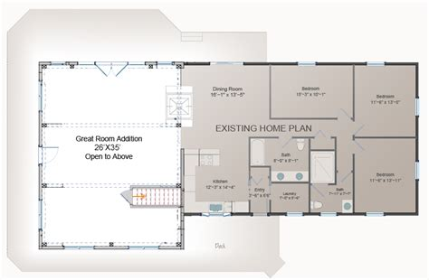 floor plans for adding onto a house great room addition plan post and beam addition barn